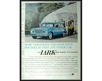 Lark Play Wagon 1950s Studebaker Car Vintage Ad Wall Art Decor E105