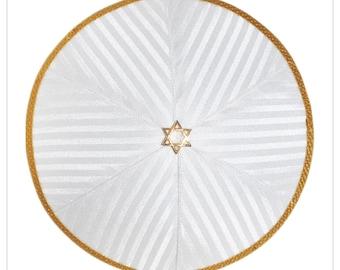 Kippah - yarmulke. Jewish wedding - Bar Mitzvah - Shabbat. David Star.