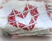 Rag Quilt ~Red and White Damask~ Baby Sweetheart