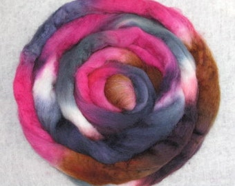 SALE - Handpainted Rovings -- Blueface Leicester Wool