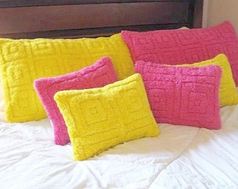 lush happy fuscia pillow cover for standard pillow