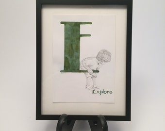 E is for Explore by Brooke Rothshank -- FRAMED