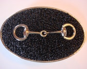 Beaded Belt buckle Womens -Snaffle bit - Horse Buckle special listing for awesomeart