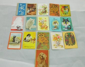 Swap Cards--- Vintage Animal Playing Cards----