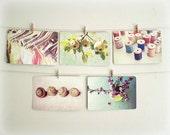 Postcard Set  -  Sunshiny days  - Hostess gift - Set of  5  Fine Art Photo Postcards stationary whimsical art Fine Art Photography 4x6