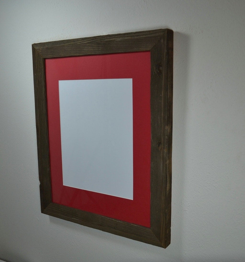 Gallery Style Wood Frame 16 X 20 With Red Mat