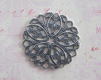 NEW Silver Filigree Finding 3640