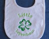Little Leprechaun  St. Patrick's Day Baby Bib - Shamrock - Custom Orders Welcome....