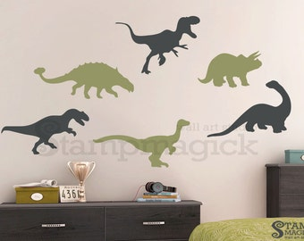 Dinosaurs Wall Decal - Nursery Boys Vinyl Wall Decal Sticker Decor - Wall Decor Kids Childre's Room baby - K195