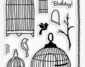 Acrylic Stamp Stampendous SSC1075 Birthday Cages  - Kitsnbitscraps
