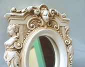 Small Vintage Classical Style Accent Mirror