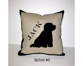 BICHON FRISE Personalized Pillow - One of a Kind, Handmade - 4 Designs Available