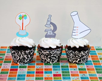 The SCIENCE COLLECTION - Custom Cupcake Toppers from Mary Had a Little Party