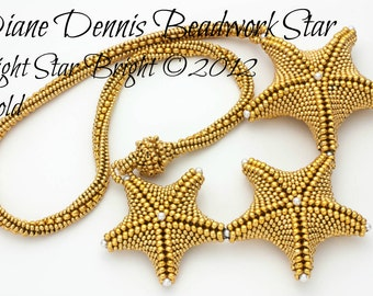 Star Light Star Bright Necklace Kit in Gold Seed Beads