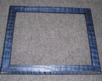 11x14  Curly Red Oak Blue Dye Picture Frame