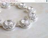 42% Off Bridal Bracelet CZ Silver CNB2