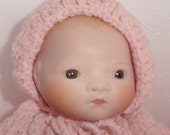 Adorable Byelo Bisque Head Baby Doll..Hand Painted -From the  Original -So Nice -Dressed