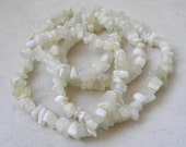 Pale Green New Jade Beads- Chip Nugget Celadon Green Jade Beads for Jewelry Making and Beaded Jewelry