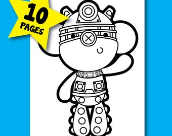 Doctor Who Villians Coloring Pages