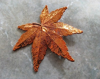 Real Leaf Brooch/Pin and Pendant - Copper - Japanese Maple