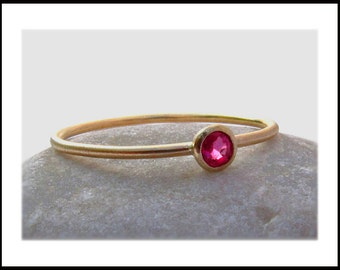 Ruby 14k Gold Stack Ring