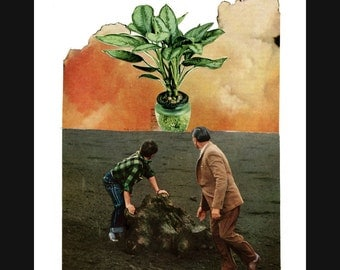 NEW swan song (canto 2) 8X10 surreal collage giclee art print