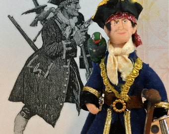 Long John Silver Doll Miniature Treasure Island Character