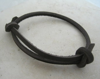 Leather Wrap Bracelet French Roast Coffee Cuff