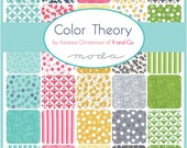 COLOR THEORY - Moda Fabric Charm Pack - Five Inch Quilt Squares Quilting Material Blocks