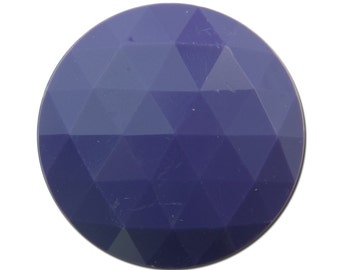Vintage Purple Faceted Acrylic Cabochons 30mm (2) cab825A