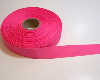 Pink Ribbon, Neon Pink Grosgrain Ribbon 7/8 inch wide x 10 yards, Neon Pink Ribbon