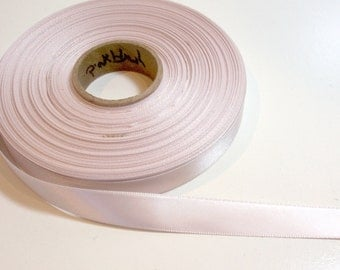 Pink Ribbon, Double-Faced Pink Blush Satin Ribbon 5/8 inch wide x 10 yards, Offray Pink Sand, SECOND QUALITY FLAWED