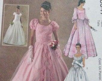 McCalls Evening Wedding Quinceanera Dress Pattern 3947
