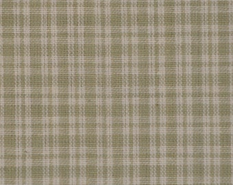 Homespun Material | Cotton Material | Quilt Material | Craft Material | Home Decor Material | Small Grey Plaid Material 1 Yard