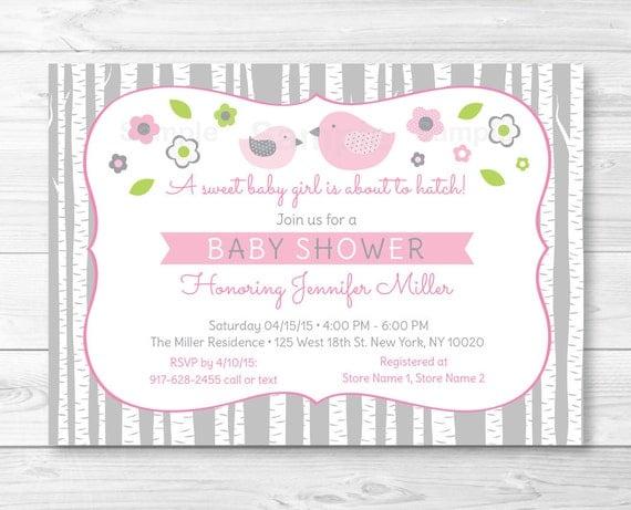 Cute bird baby shower invitation bird baby shower invite il570xn filmwisefo