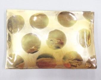 GOLD POLKA - gold  porcelain wall pillow