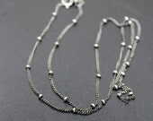 Satellite Chain Ball Curb Sterling Silver 30""