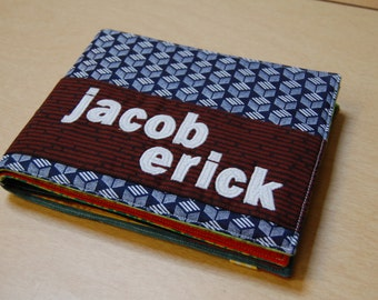 Custom cloth book, full name, 10 page