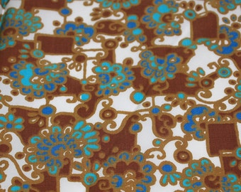 vintage 50s fabric featuring unique abstract design, 1 yard