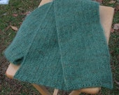 Moss Green Mohair and Silk Scarf