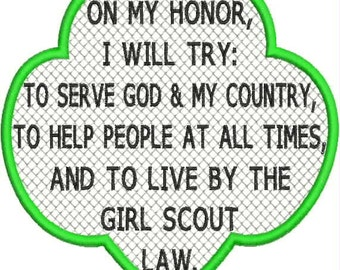 Girl scout promise | Etsy