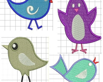 Cute Birdies Collection Embroidery Designs