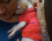 Yorkie Chi Tiny Dog Sweater XS (pdf pattern)