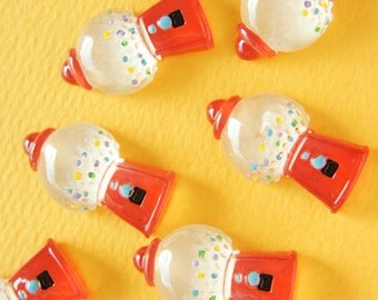 6 pcs Candy Machine Cabochon (16mm30mm) DR445