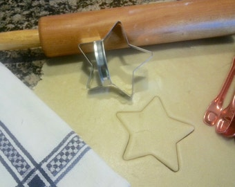 Star Cookie Cutter 3.5 inch Metal Handmade With Custom Handle By West Tinworks