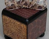 Safari Animal Print Keepsake Trinket Lift Top Decorative Box
