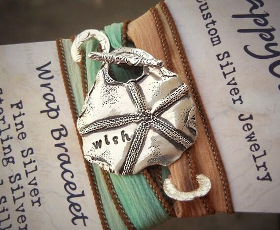 Starfish Jewelry, Silk Ribbon Bracelet, Starfish Bracelet Beach Jewelry, Summer Fashion Beach Trend, Summer Jewelry Fashion Wrap Bracelet