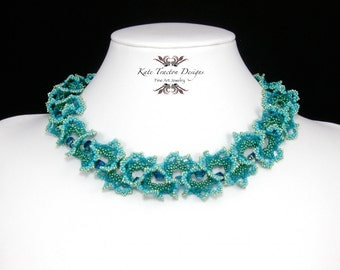 Ogalala Lace Necklace, Turquoise Blue, Green