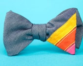 triple stripe freestyle bow tie