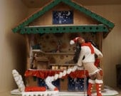 Winter Girl - a dollhouse miniature figure / doll by CWPoppets Christmas